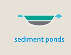 Sediment ponds