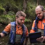 Melbourne Water staff at Maroondah Catchment